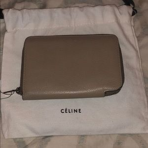 Authentic Tan leather Celine wallet